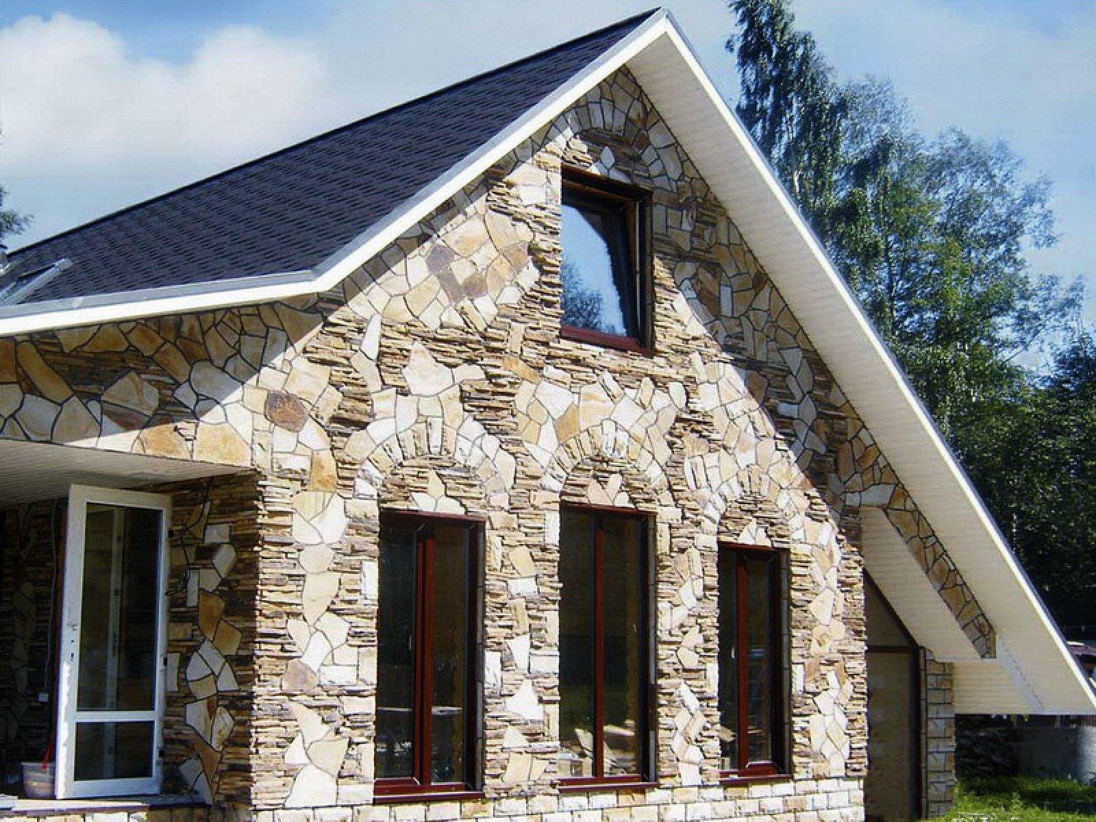 Как сделать фасад дома из камня